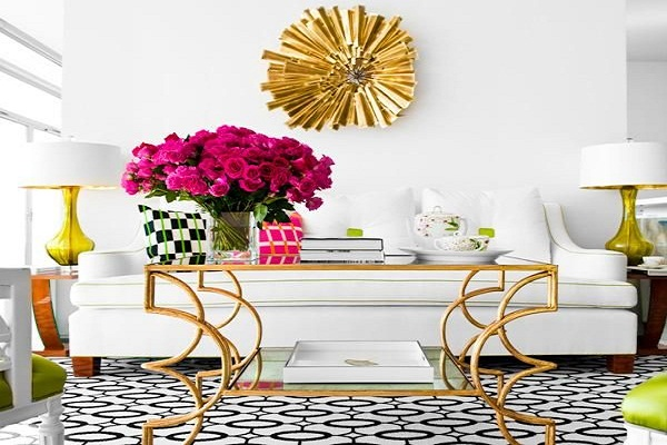 Decorate with geometric carpets