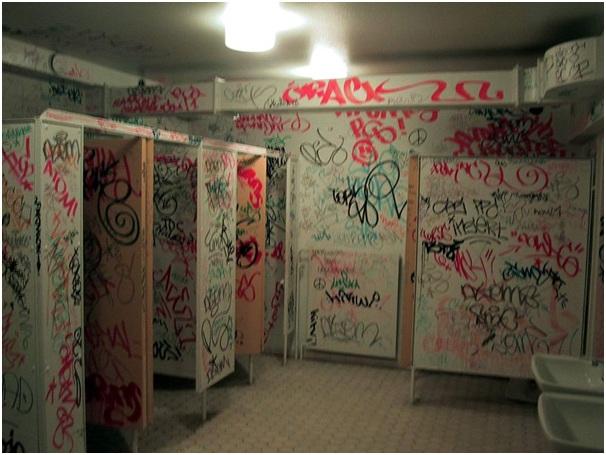 Preventing vandalism at commercial premises
