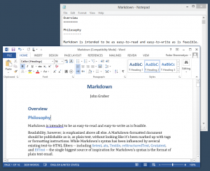 How to make Microsoft Word a perfect MarkDown text editor