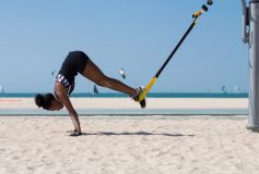 20 minute circuit to get fit on the beach with the TRX